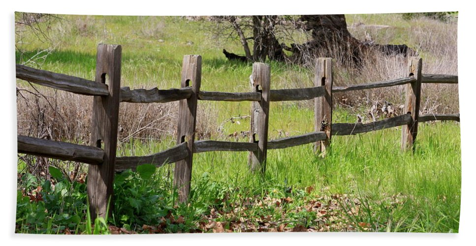 Country Fence Bath Sheet featuring the photograph Country Fence by Carol Groenen
