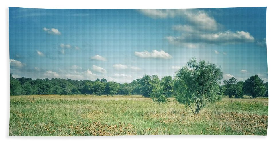 Landscape Hand Towel featuring the photograph Country Fields by Alicia Martin