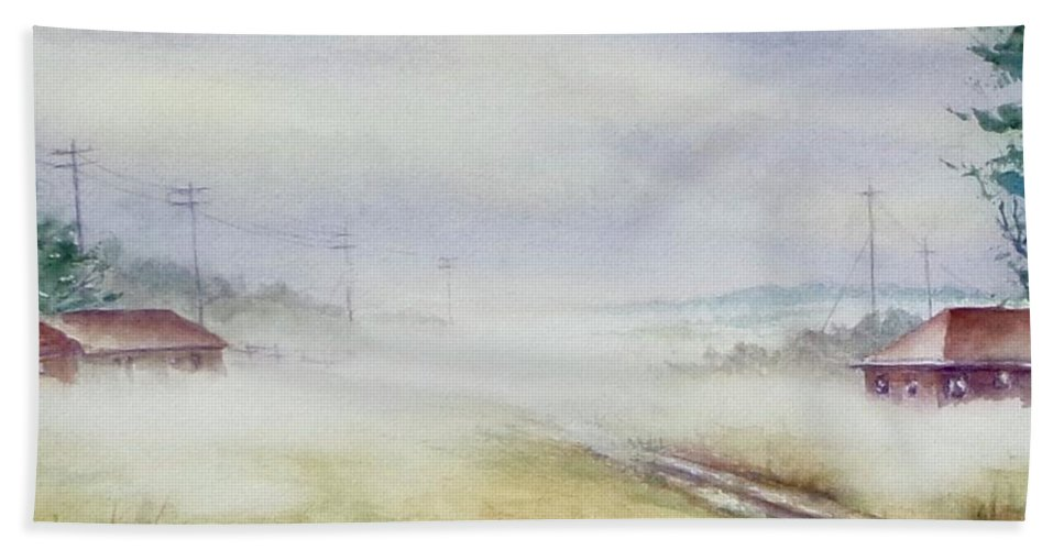 Fog Bath Sheet featuring the painting Country Fog by James Heroux