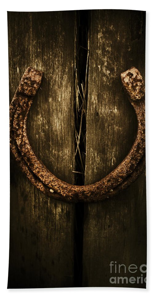 Horseshoe Hand Towel featuring the photograph Country Luck by Jorgo Photography - Wall Art Gallery