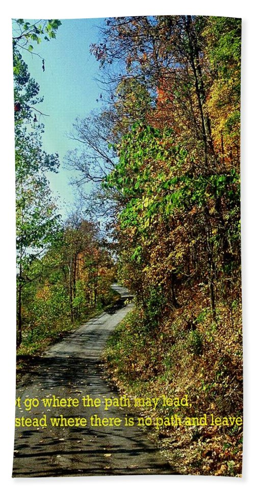Country Road Hand Towel featuring the photograph Country Path by Gary Wonning