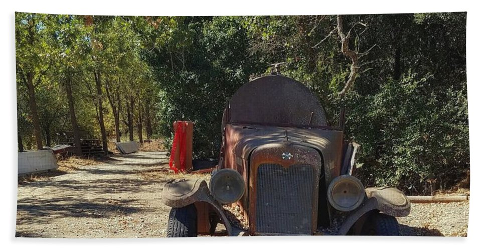 California Hand Towel featuring the photograph Country Road In California by Mary Capriole