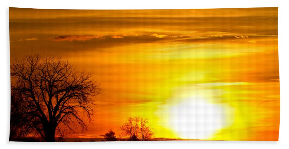 canvas Print Hand Towel featuring the photograph Country Sunrise 1-27-11 by James BO Insogna