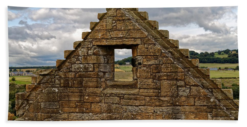 Old Castle Hand Towel featuring the photograph Countryside View by Scott Hill
