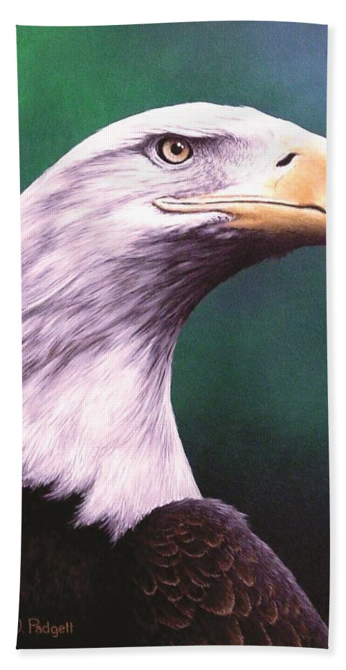 Eagle Hand Towel featuring the painting Courage by Anthony J Padgett