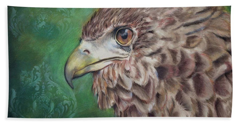 Bird Bath Sheet featuring the drawing Courage by Kimberly Dickerson