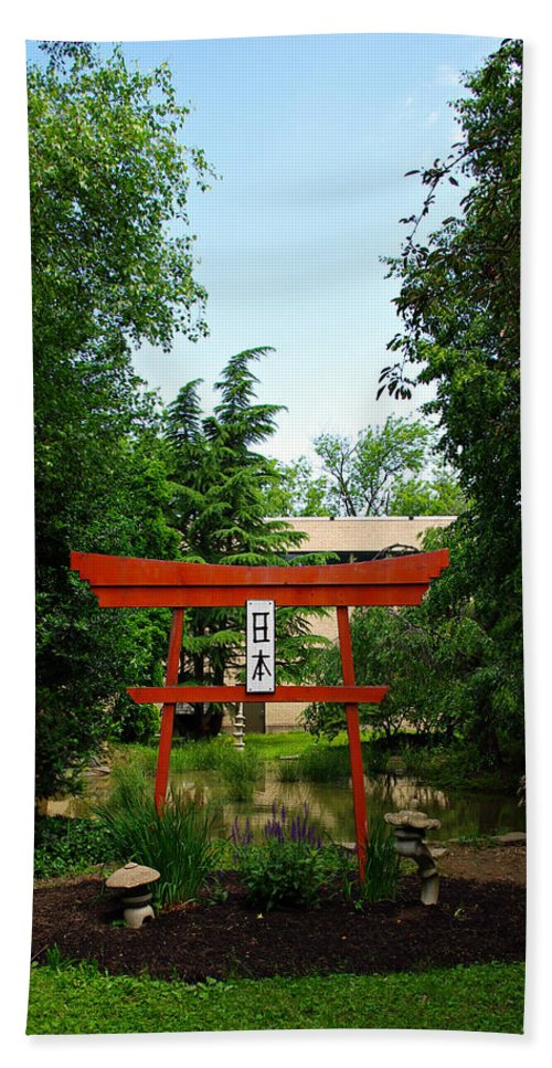 Scenery Hand Towel featuring the photograph Courtyard by Scott Wyatt