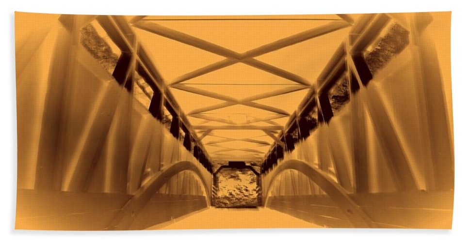 Covered Bath Sheet featuring the photograph Covered Bridge 3 by Karl Rose