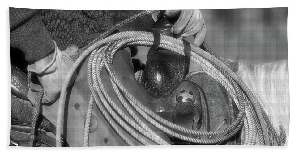 Cowboys Hand Towel featuring the photograph Cowboy Life by Ana V Ramirez