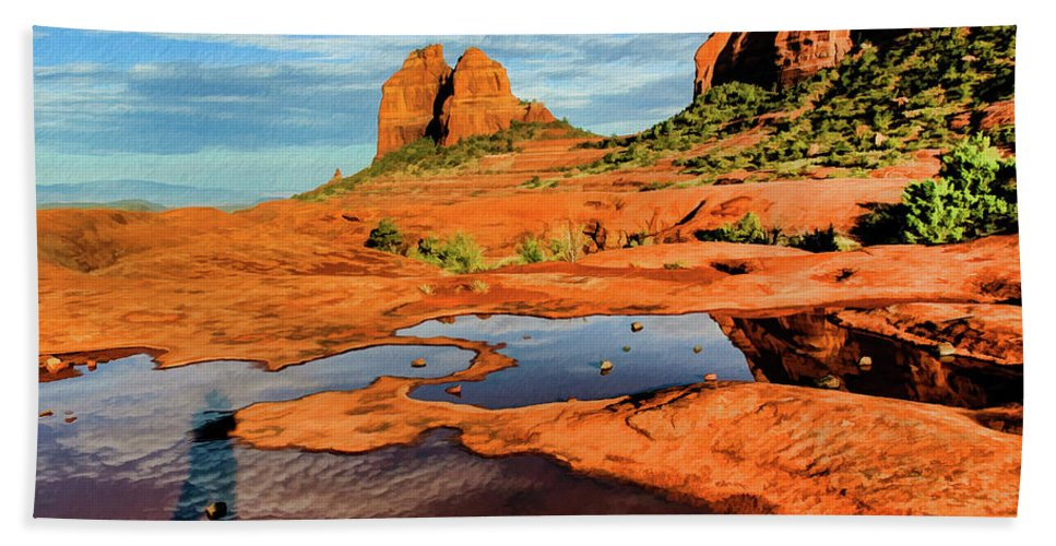 Sedona Hand Towel featuring the photograph Cowpie 07-103 by Scott McAllister