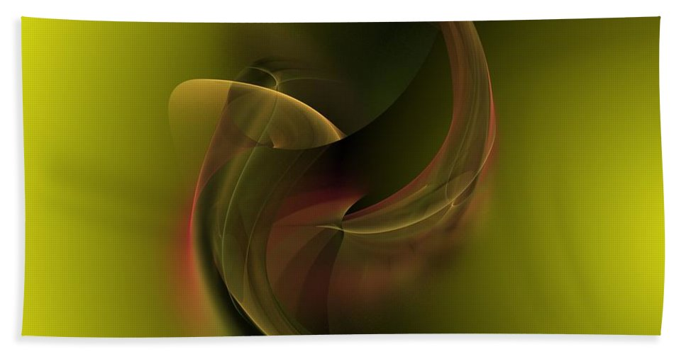 Fantasy Hand Towel featuring the digital art Coy In Pond by David Lane