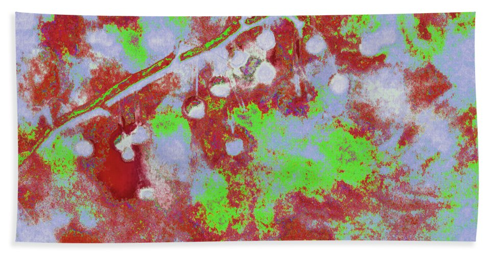 Botany Hand Towel featuring the photograph Crabapples Series #4 25 by Gary Bartoloni