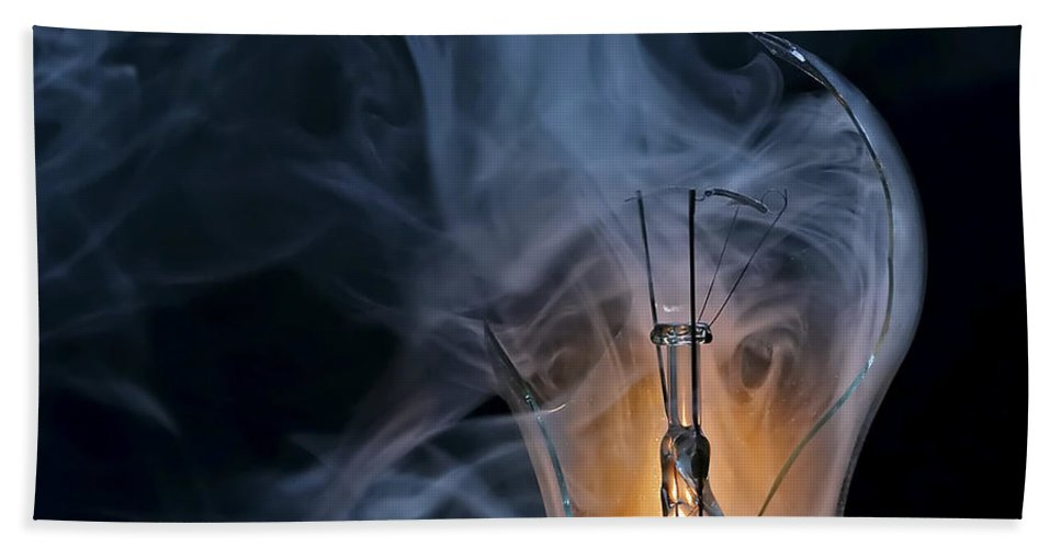 Bulb Bath Sheet featuring the photograph Cracked Bulb by Michal Boubin