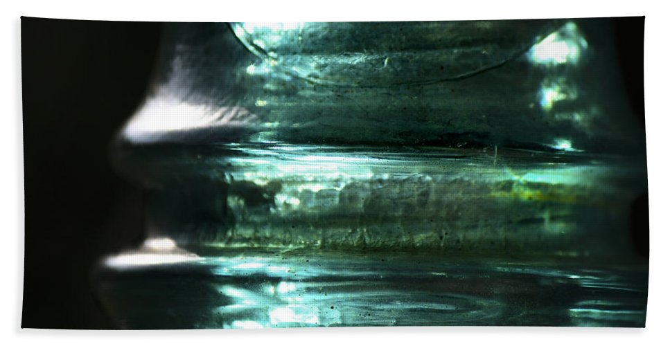 Glass Bath Sheet featuring the photograph Cracked Glass by Sari Sauls