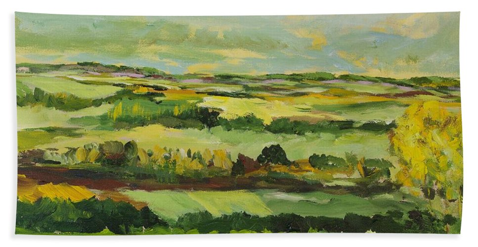Landscape Hand Towel featuring the painting Cranbrook by Allan P Friedlander