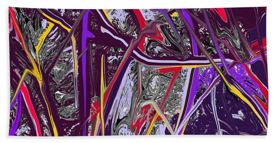 Abstract Bath Towel featuring the digital art Crash by Ian MacDonald
