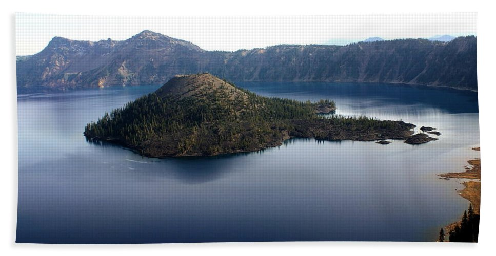 Crater Lake Hand Towel featuring the photograph Crater Lake 2 by Marty Koch