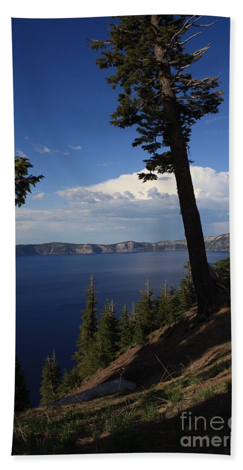 Landscape Bath Towel featuring the photograph Crater Lake 7 by Carol Groenen