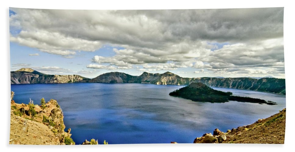 Crater Lake Hand Towel featuring the photograph Crater Lake I by Albert Seger