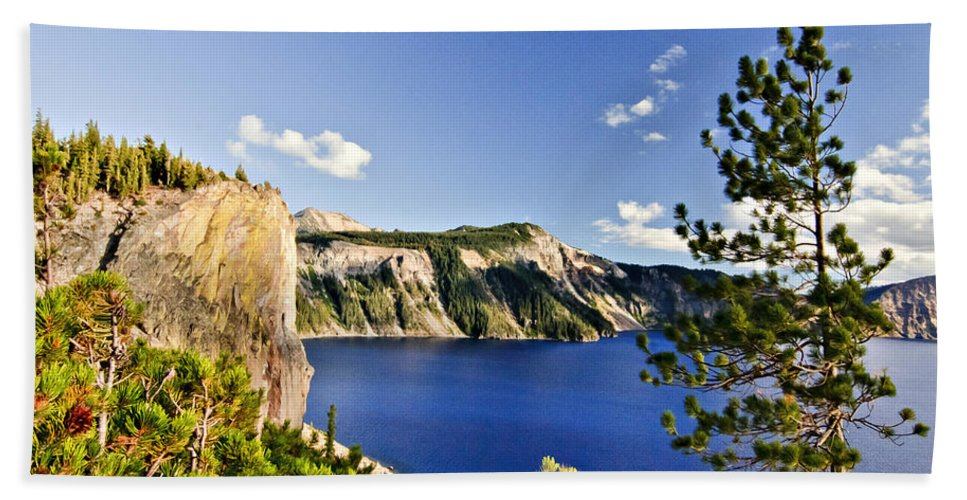 Crater Lake Bath Sheet featuring the photograph Crater Lake II by Albert Seger
