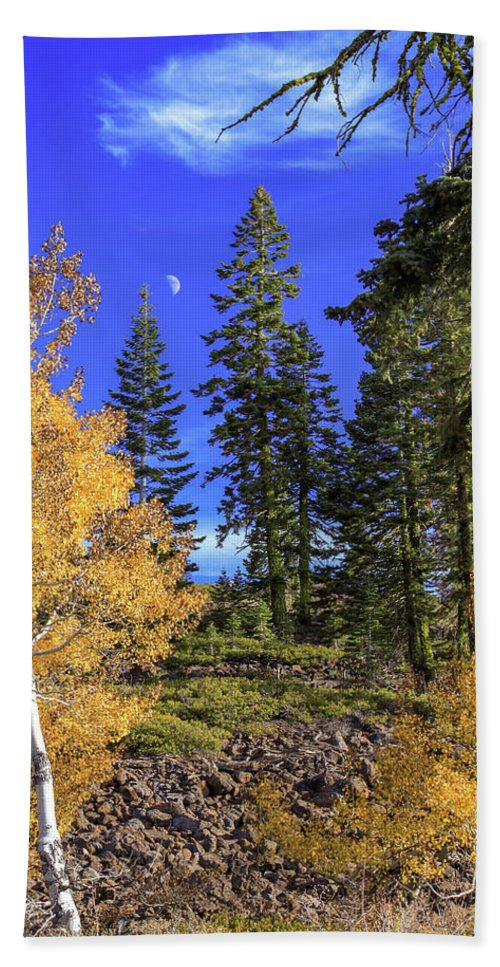 Landscape Hand Towel featuring the photograph Crater Moon by James Eddy