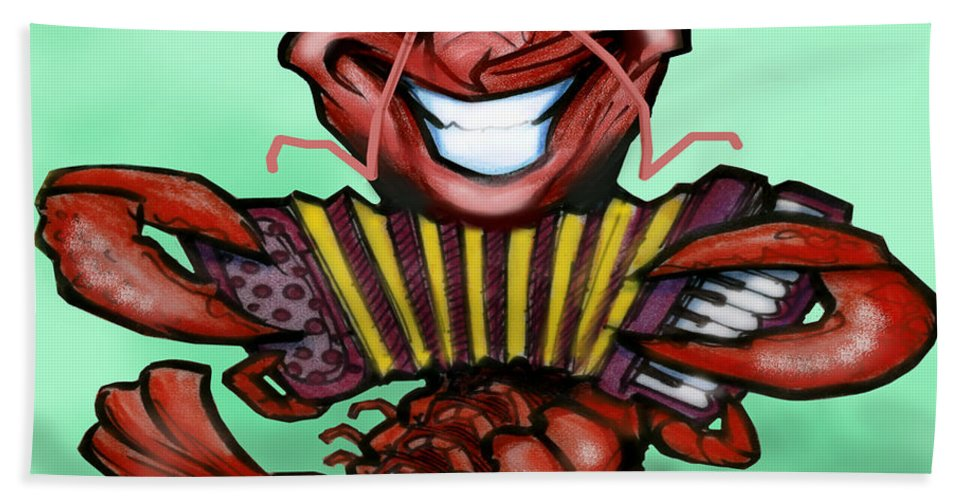 Crawfish Hand Towel featuring the digital art Crawfish by Kevin Middleton