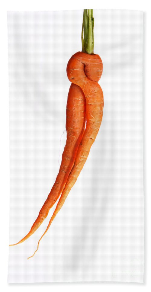 Carrot Hand Towel featuring the photograph Crazy Carrot Fine Art Food Photography by James BO Insogna