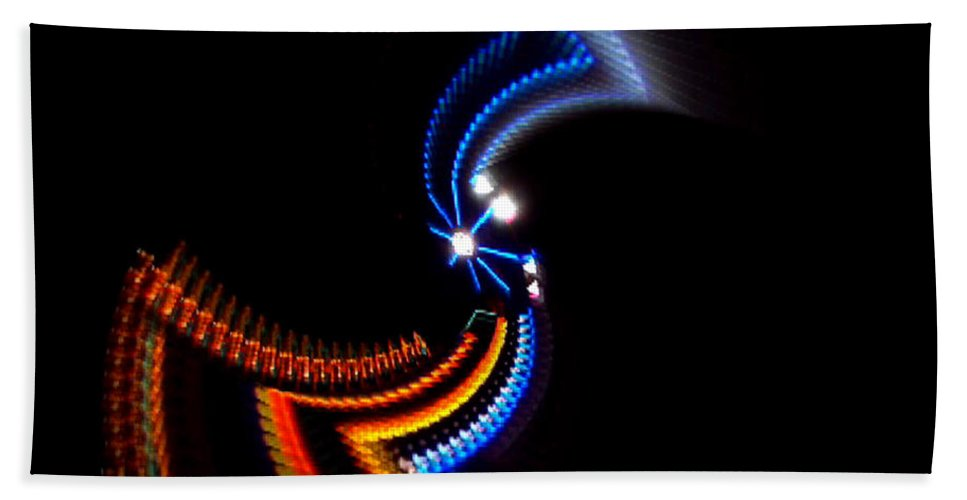 Chaos Bath Towel featuring the photograph Crazy Dancer by Charles Stuart