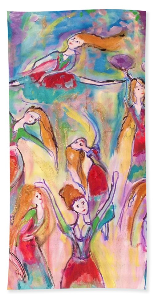 You Hand Towel featuring the painting Crazy For You by Judith Desrosiers