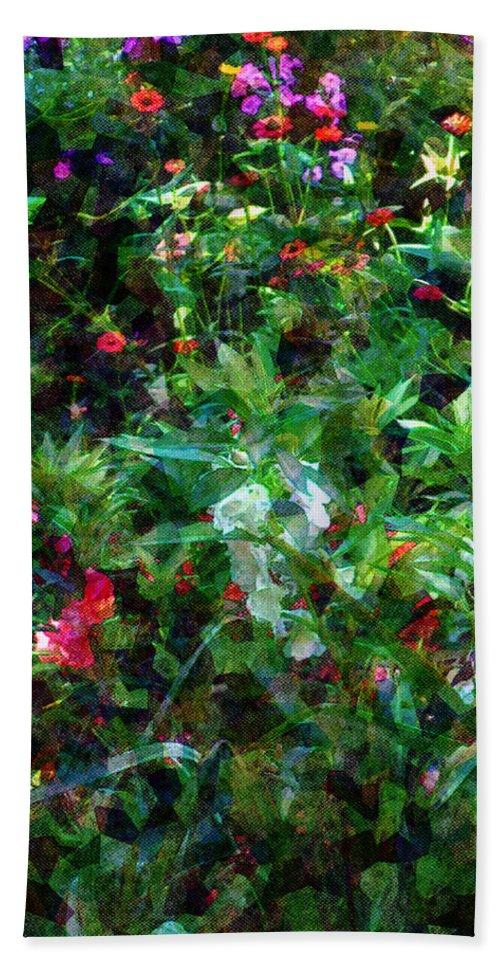 Garden Bath Towel featuring the digital art Crazyquilt Garden by RC DeWinter