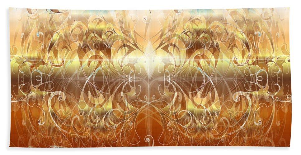 Fantasy Bath Sheet featuring the digital art Creation II by George Pasini