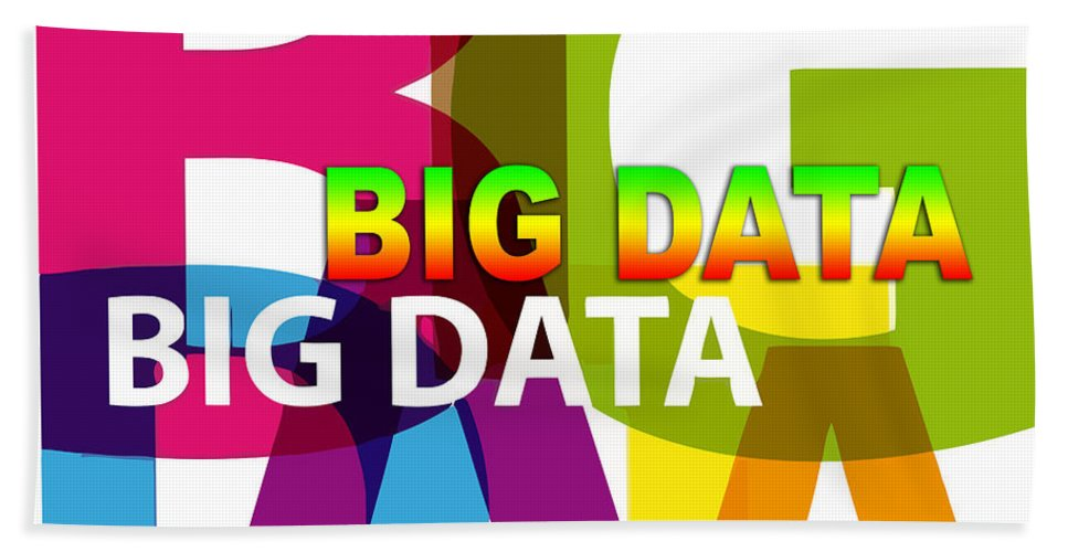 Comics Hand Towel featuring the digital art Creative Title - Big Data by Don Kuing