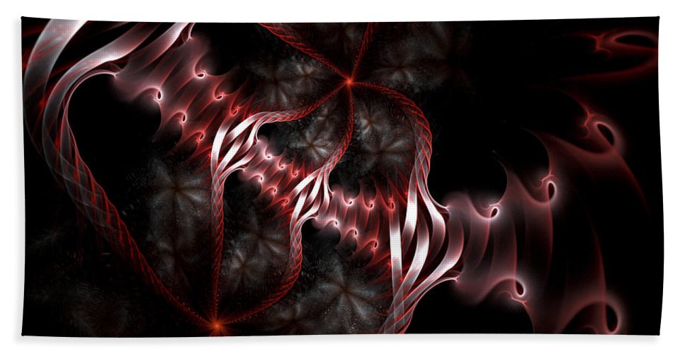 Fractal Bath Sheet featuring the digital art Creatures Of The Deep by Amorina Ashton