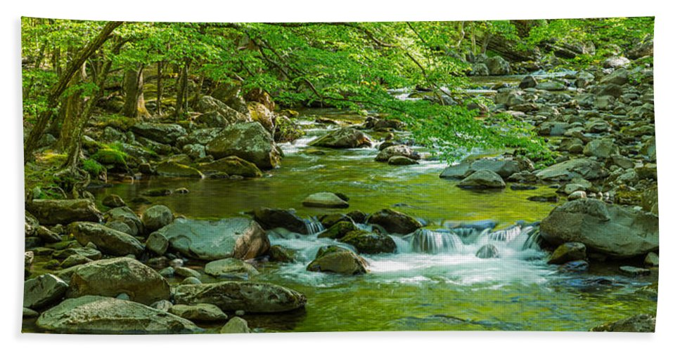 Photography Bath Sheet featuring the photograph Creek In Great Smoky Mountains National by Panoramic Images