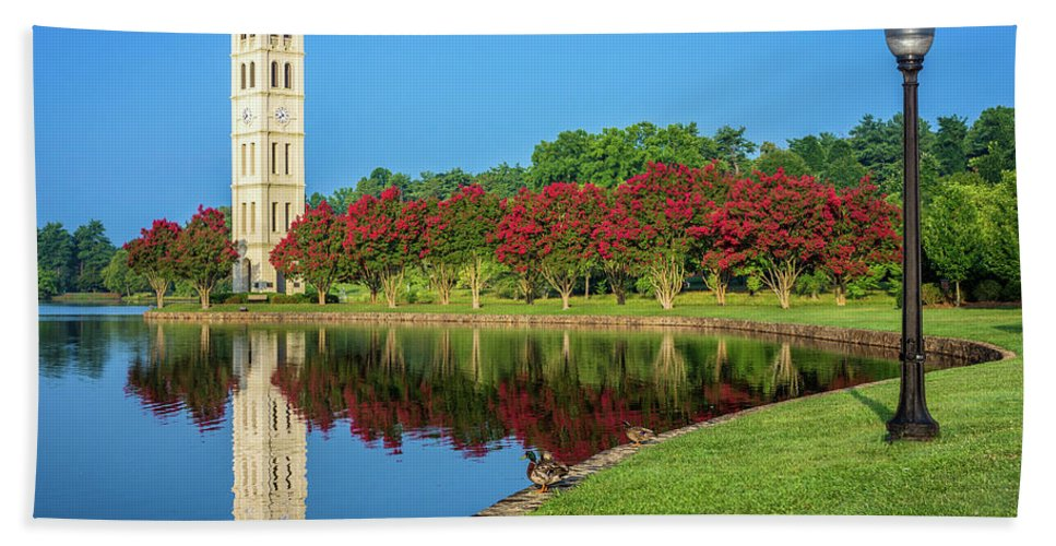Furman University Bath Sheet featuring the photograph Crepe Myrtle Row by Chilehead Photography