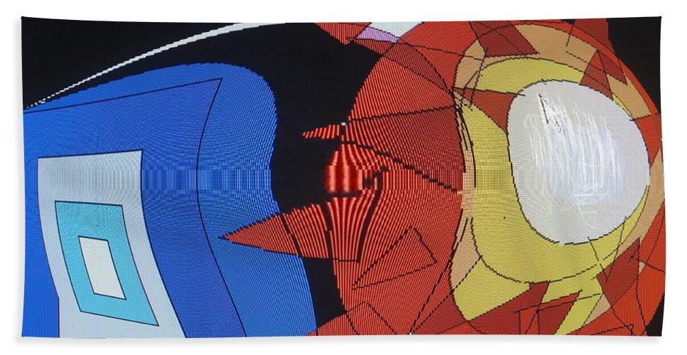 Abstract Bath Towel featuring the digital art Crescendo One by Ian MacDonald