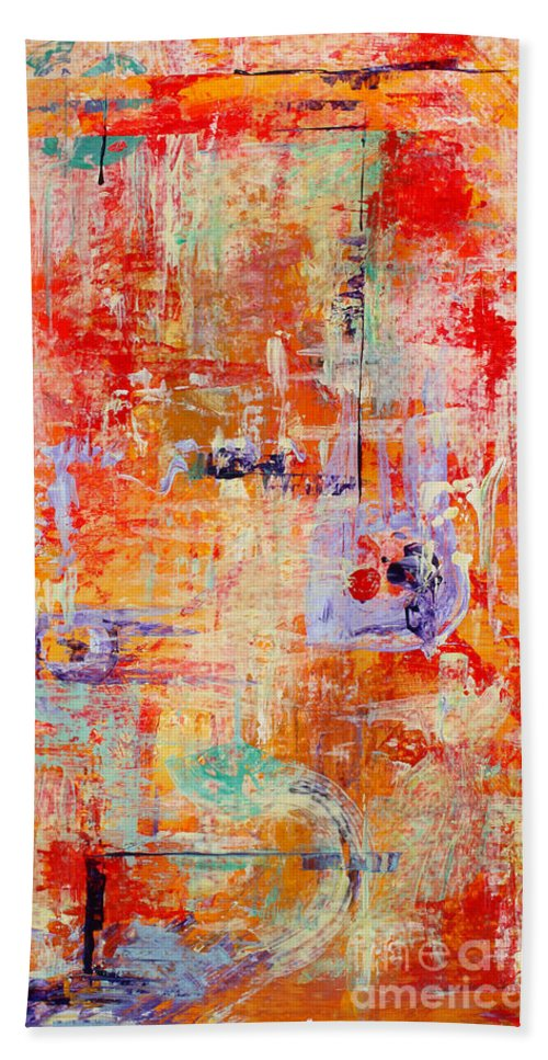 Large Format Painting Bath Towel featuring the painting Crescendo by Pat Saunders-White