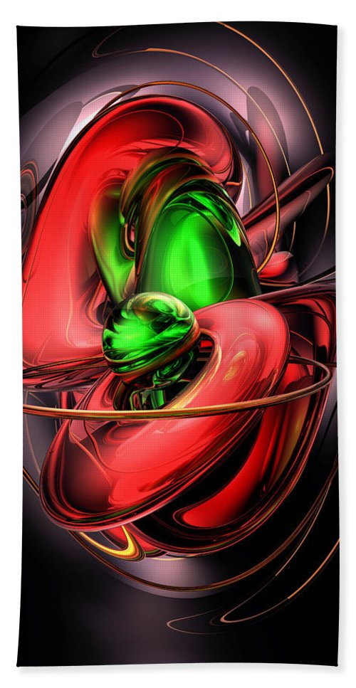 3d Bath Towel featuring the digital art Crimson Affection Abstract by Alexander Butler