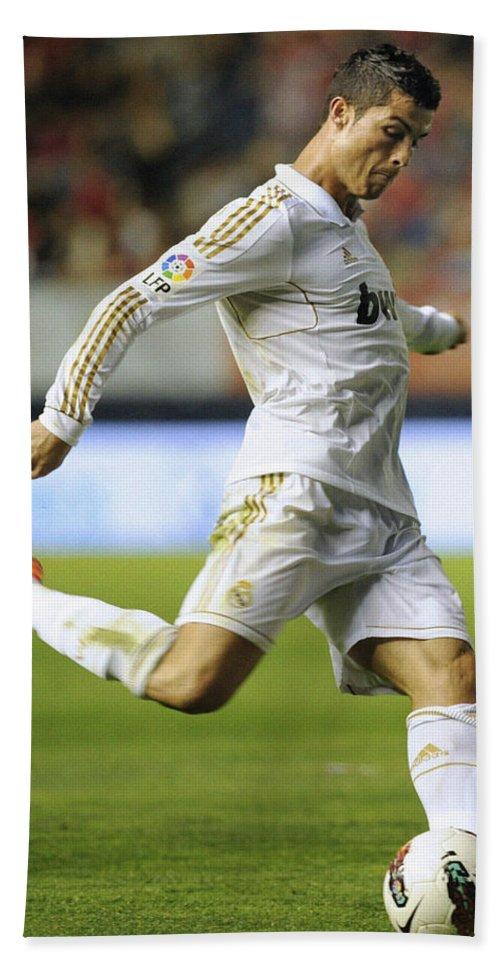Spain Hand Towel featuring the photograph Cristiano Ronaldo 2 by Rafa Rivas