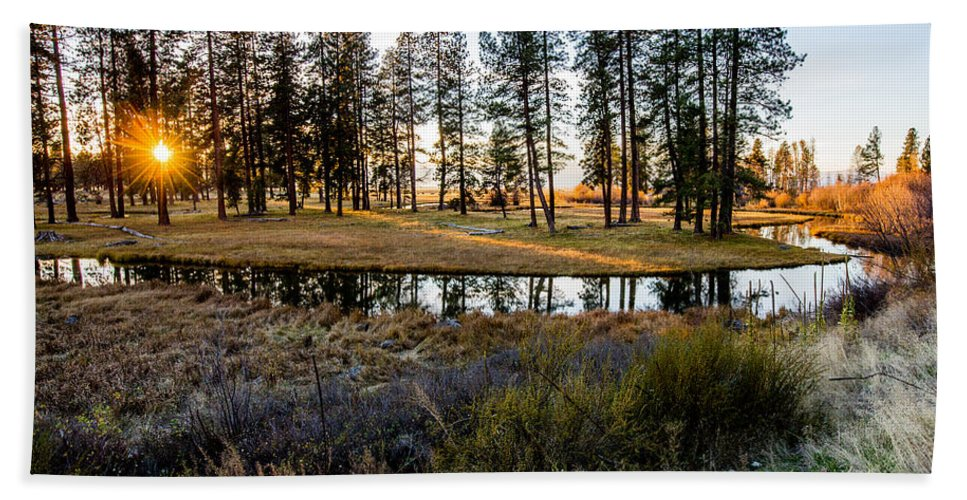 Streams Hand Towel featuring the photograph Crooked Creek Sunset by Michael Parks