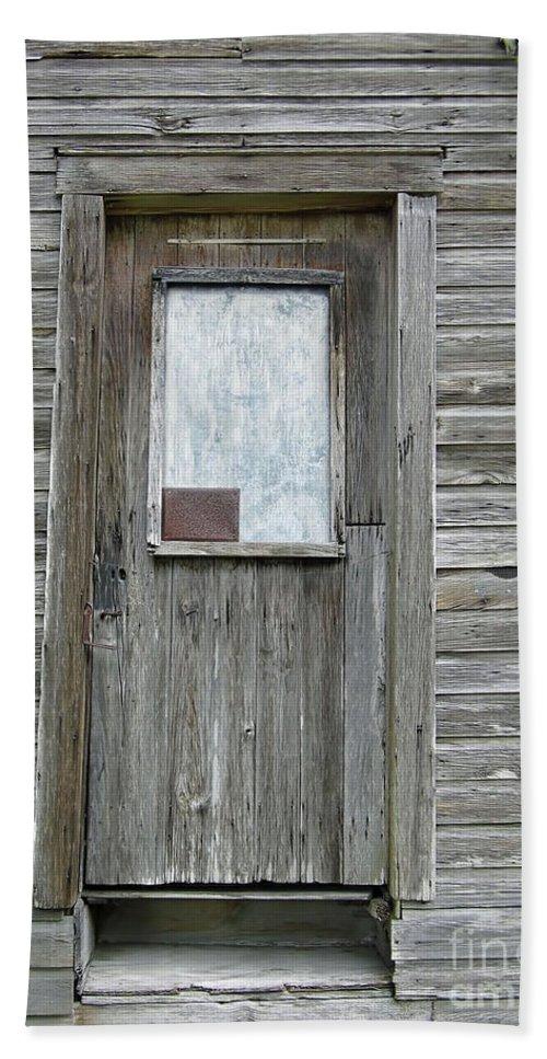Door Hand Towel featuring the photograph Crooked Door by D Hackett
