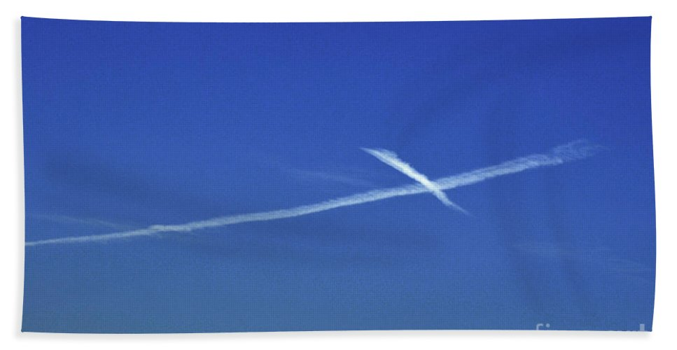 Clay Hand Towel featuring the photograph Cross In The Sky by Clayton Bruster