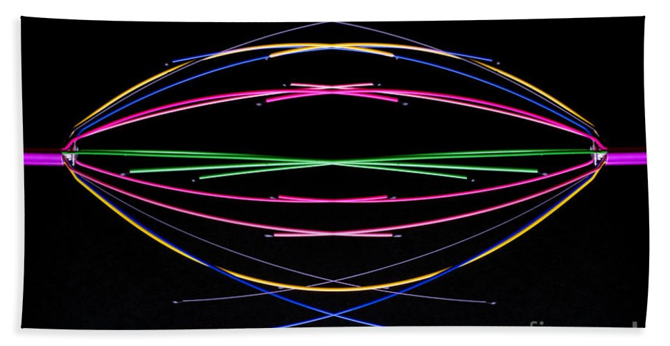Minimal Bath Sheet featuring the photograph Crossed Wires 1 by Steve Purnell