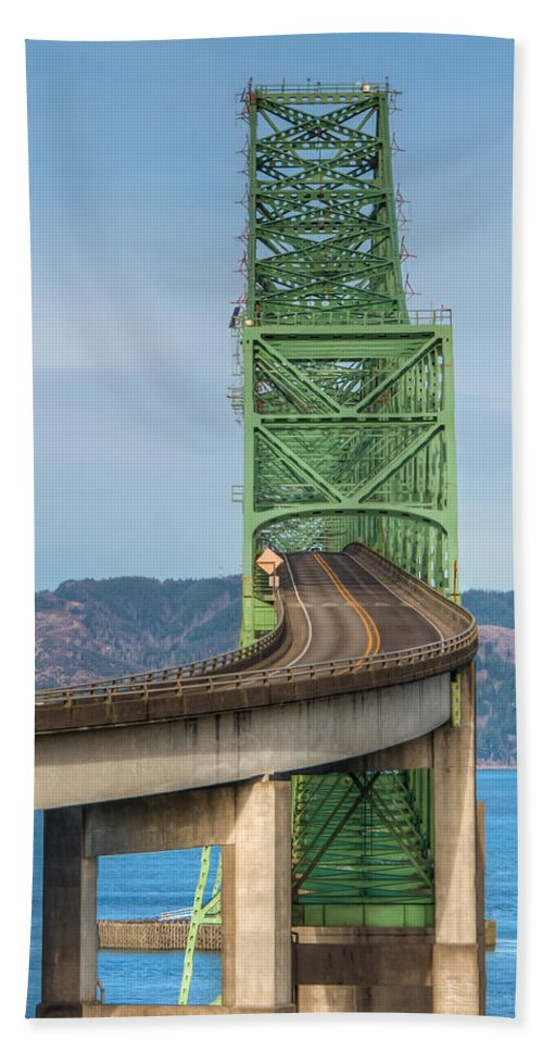 Astoria-megler Hand Towel featuring the photograph Crossing Columbia by Kristina Rinell