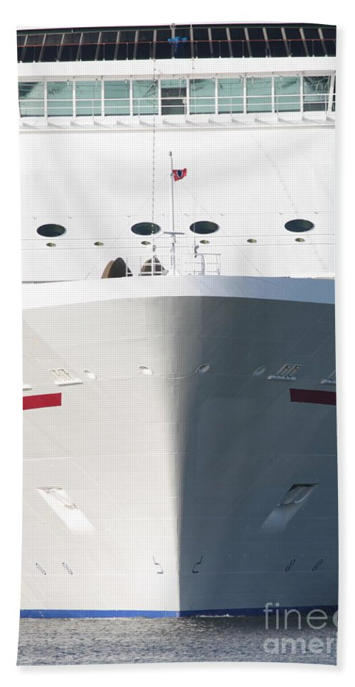 Cruise Ship Hand Towel featuring the photograph Cruise On by Carol Groenen