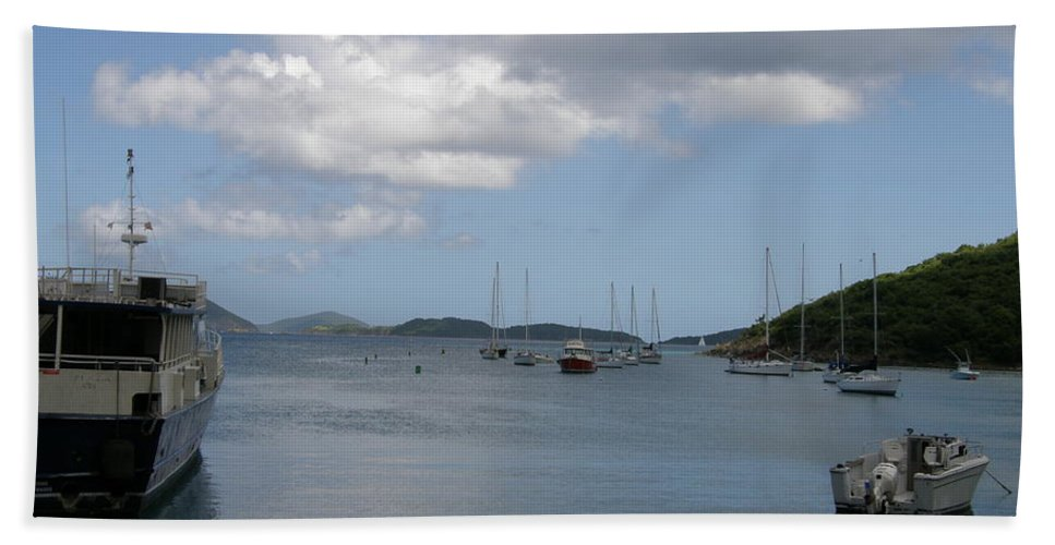 Ocean Hand Towel featuring the photograph Cruz Bay by Kimberly Mohlenhoff