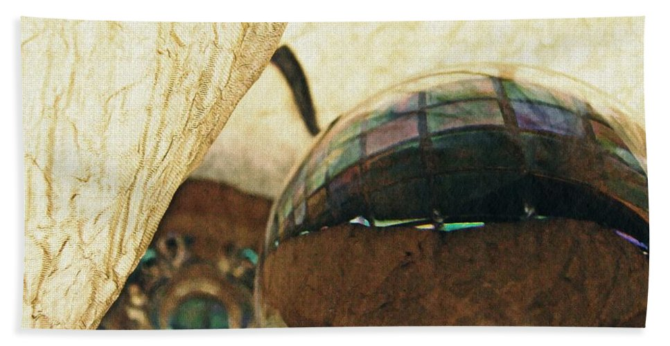 Crystal Bath Sheet featuring the photograph Crystal Ball Project 120 by Sarah Loft