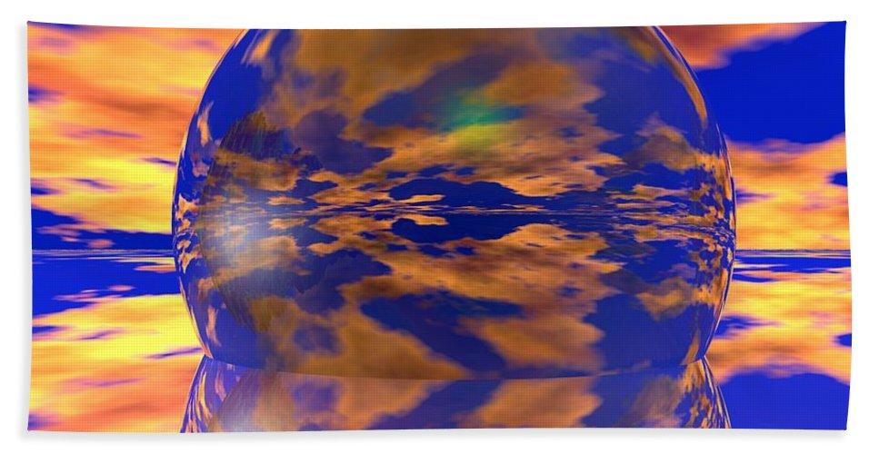 Ball Bath Sheet featuring the digital art Crystal Ball by Robert Orinski
