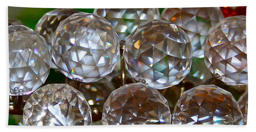 Crystal Bath Towel featuring the photograph Crystal Balls by Rick Monyahan