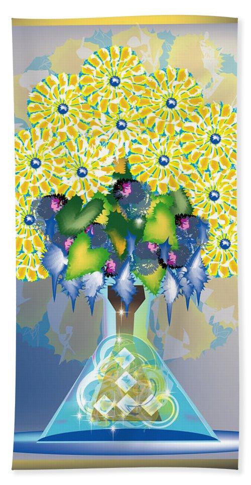 Flowers Bath Sheet featuring the digital art Crystal Boquet by George Pasini